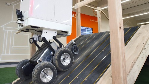 How is a transportation & logistics company's new delivery robot impacting healthcare?