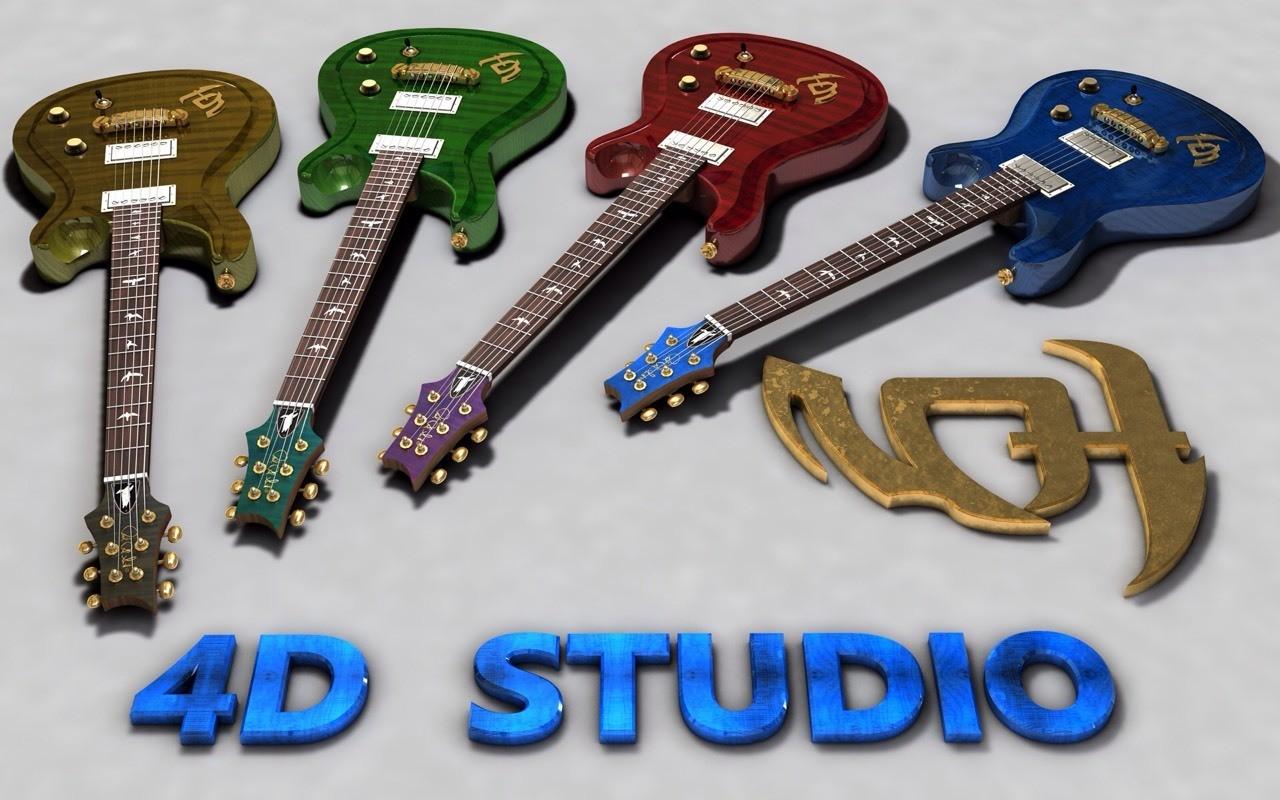 Guitars color 4D Studio
