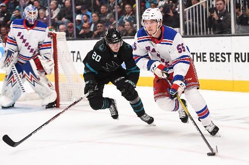 Panarin nets hat trick as Rangers dump Sharks