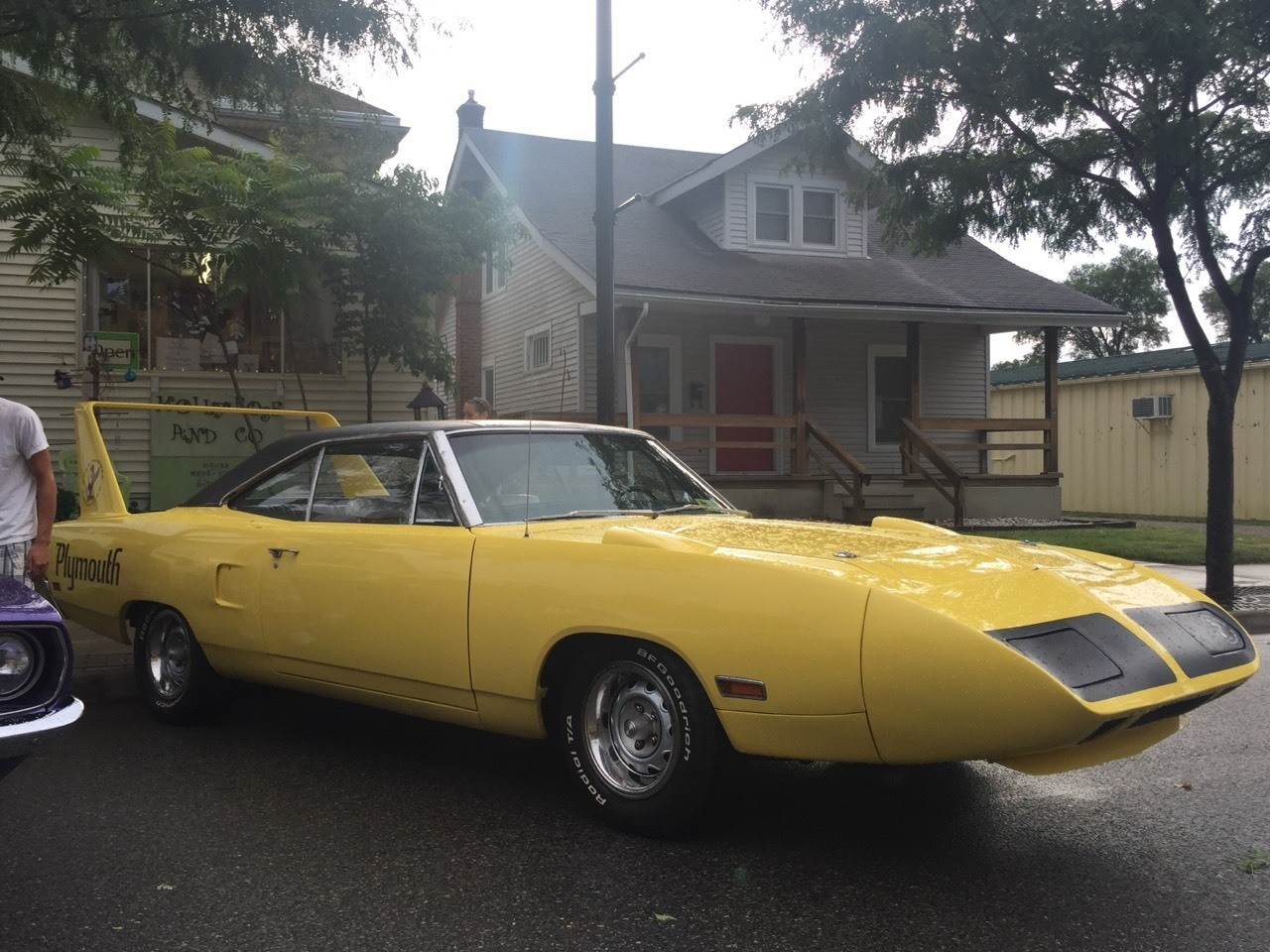 Superbird! Classic cars on Broadway, New Haven, IN