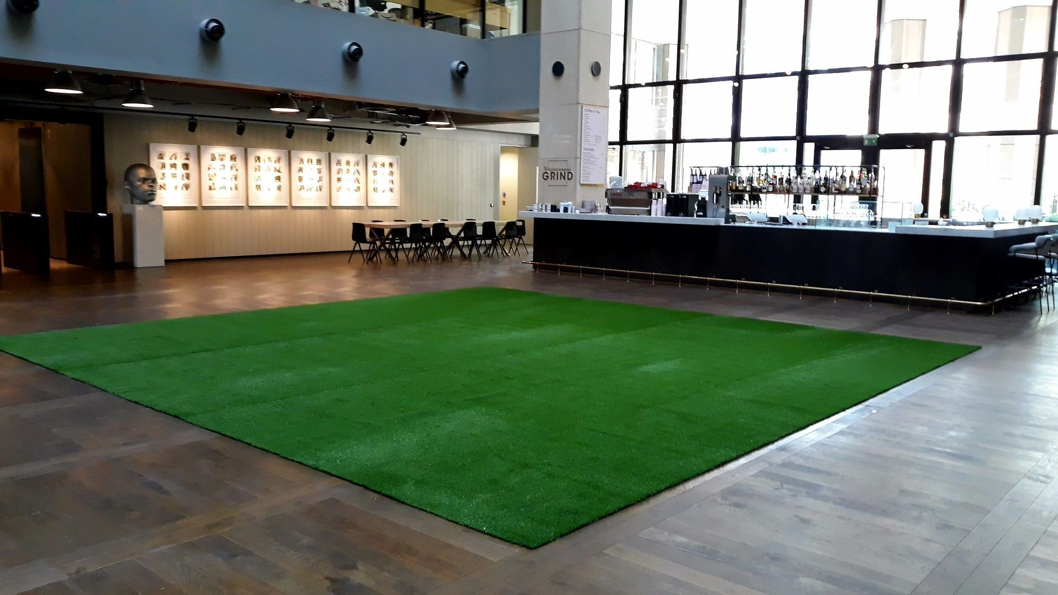#ARTTRAGrass #artificialgrass installation for Derwent London in 10 Whitechapel High Street