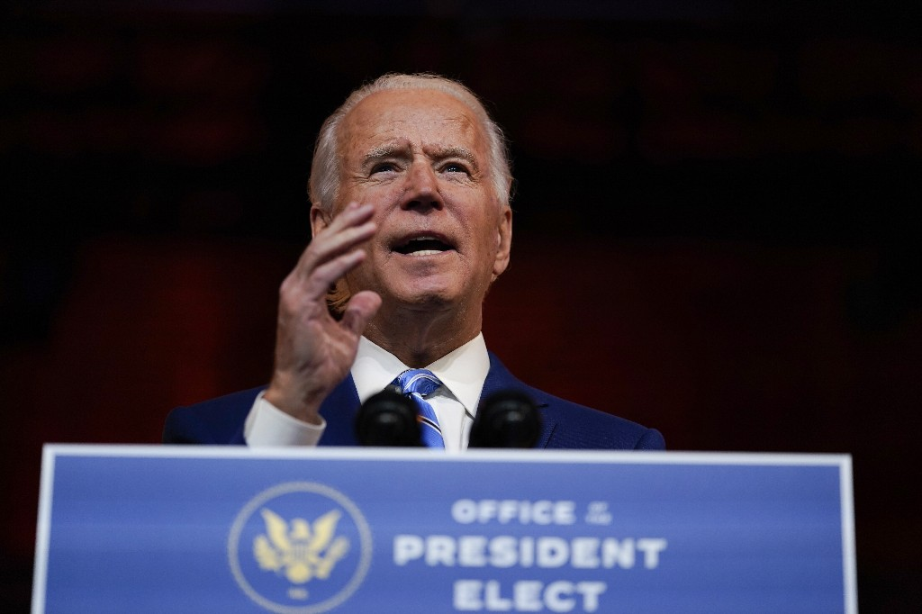 Joe Biden to deliver a Thanksgiving address seeking US unity