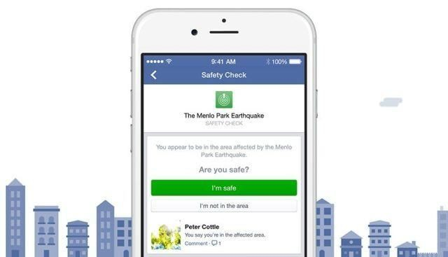 Facebook's Safety Check feature lets friends know you're okay during a natural disaster