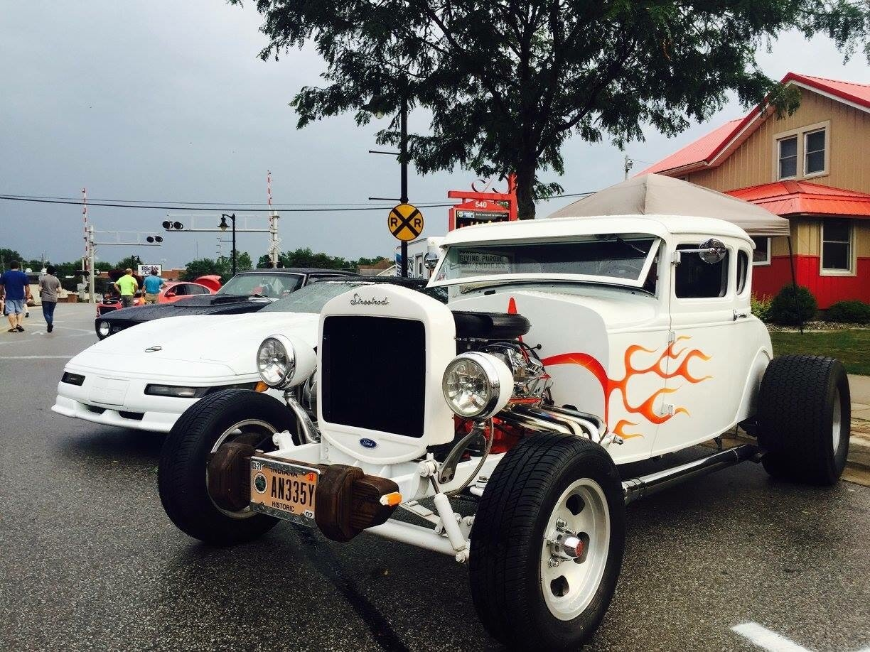 Hot Rods on Broadway. New Haven, IN.