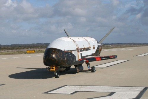 Unmanned U.S. Air Force space plane lands after secret, two-year mission