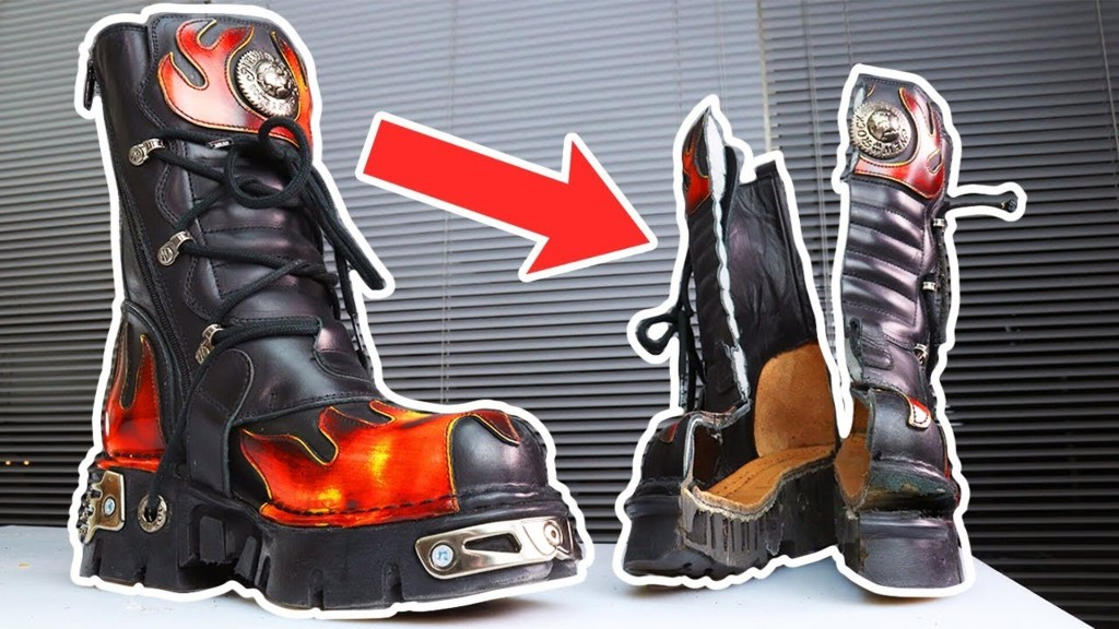 What's Inside 6 POUND GOTH BOOTS
