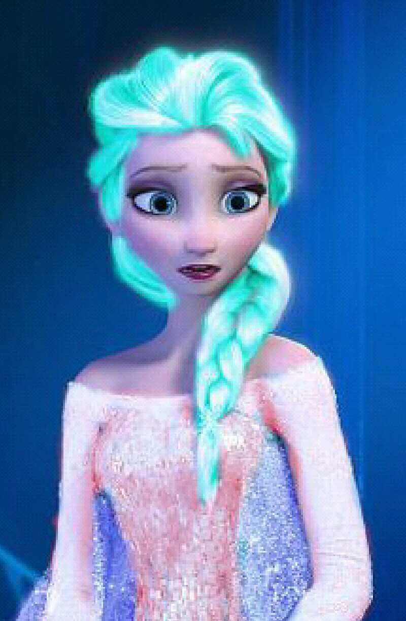Elsa neon blue and pink