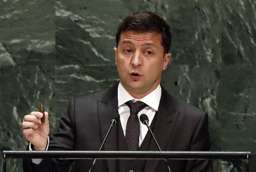 Entangled in US scandal, Ukraine's president speaks at UN