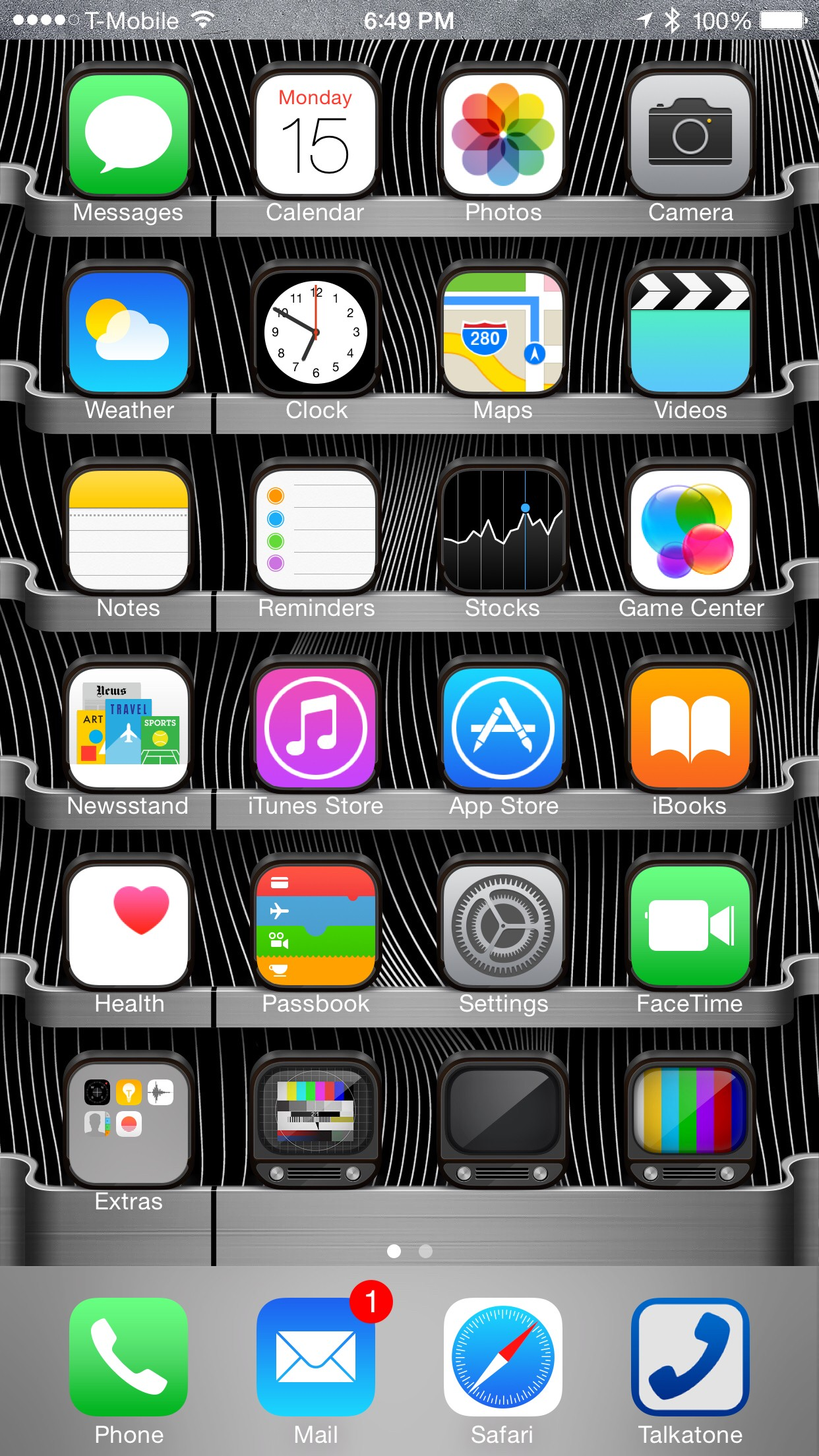 My iPhone 6 plus home screen