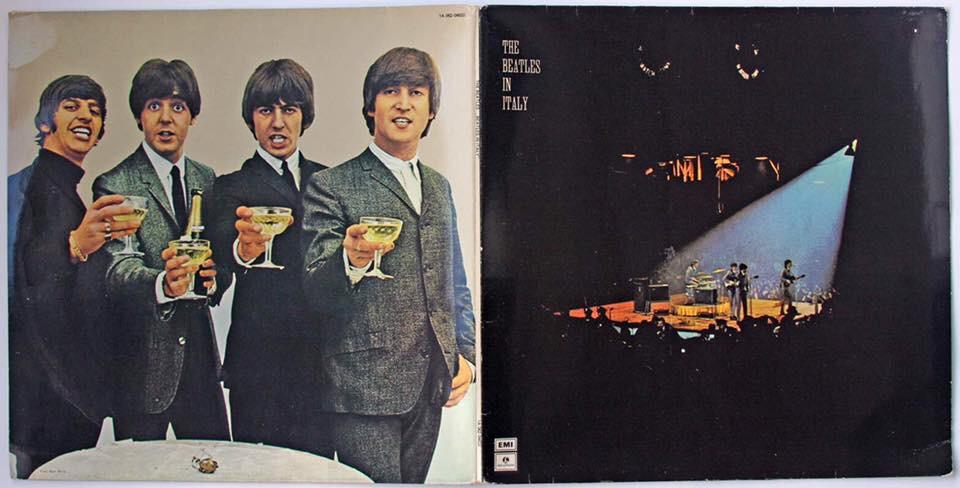 """Загадочны альбом Битлз. The Beatles in Italy продавался очень слабо, поскольку не содержал нового материала, так что Parlophone вскоре сняла его с производства. Возможно, пластинка навсегда канула бы в Лету, если б не случайная ошибка Джона Леннона. Как-то в 1970 году, в интервью журналу Rolling Stone, он обронил, будто The Beatles in Italy был концертный альбом. Это вызвало переполох в среде коллекционеров и фанатов Битлз, поскольку группа не выпустила за всю свою карьеру ни одного концертного альбома. The Beatles in Italy стал редчайшей коллекционной ценностью, а поскольку небольшой тираж 1965 года было практически невозможно разыскать в 1970-х, то мало кто сомневался в """"концертном"""" характере альбома. Наконец, в середине 1970-х итальянский филиал Парлофона переиздал The Beatles in Italy. Тогда многие фаны поняли, что никакой он не концертник. А в 1977-м подоспел выпуск настоящего концертного альбома The Beatles at the Hollywood Bowl. И тем не менее, The Beatles in Italy остается излюбленным артефактом фанов Битлз, дополняя их коллекции. К тому же у альбома интересная обложка-разворот с оригинальными фотографиями с концерта Битлз в Италии. The Beatles in Italy, естественно, никогда не выпускался на CD, и вряд ли кому придет в голову это сделать, поскольку самая ценность артефакта - в его виниловом формате."""