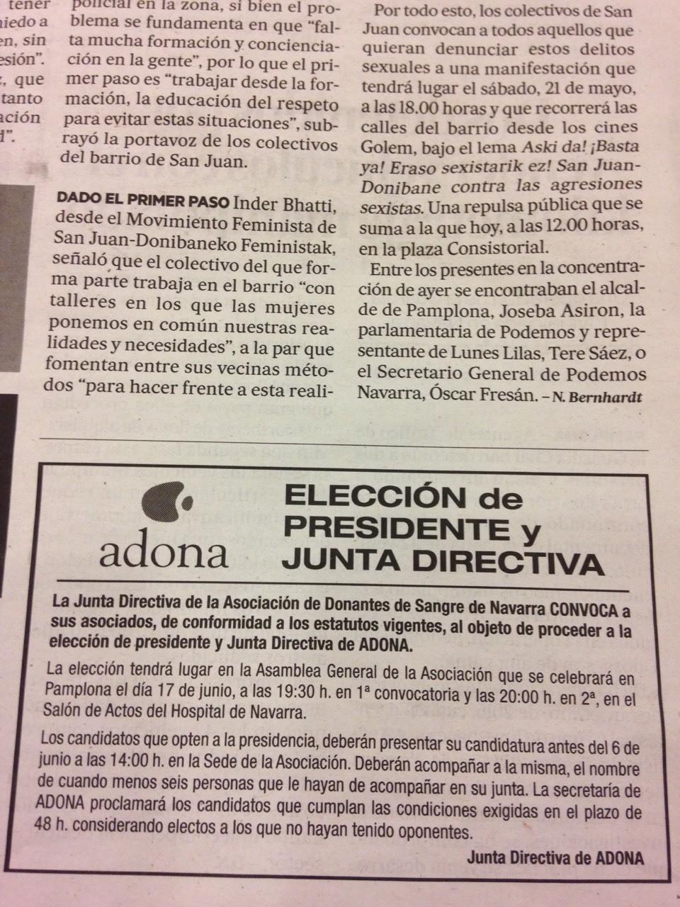 Anuncio Nueva Junta Directiva