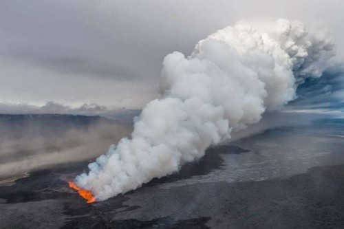 Bardarbunga volcano erupts on Iceland spewing molten lava and ash, in pictures