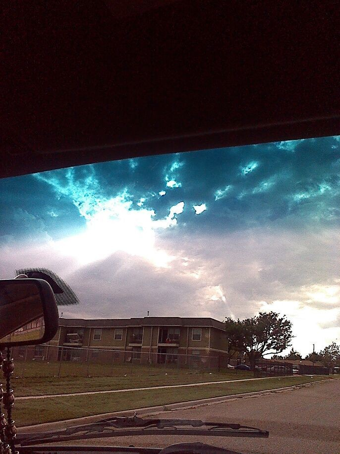 I took this photo here in Amarillo. I like how you can see the ray of sunshine.