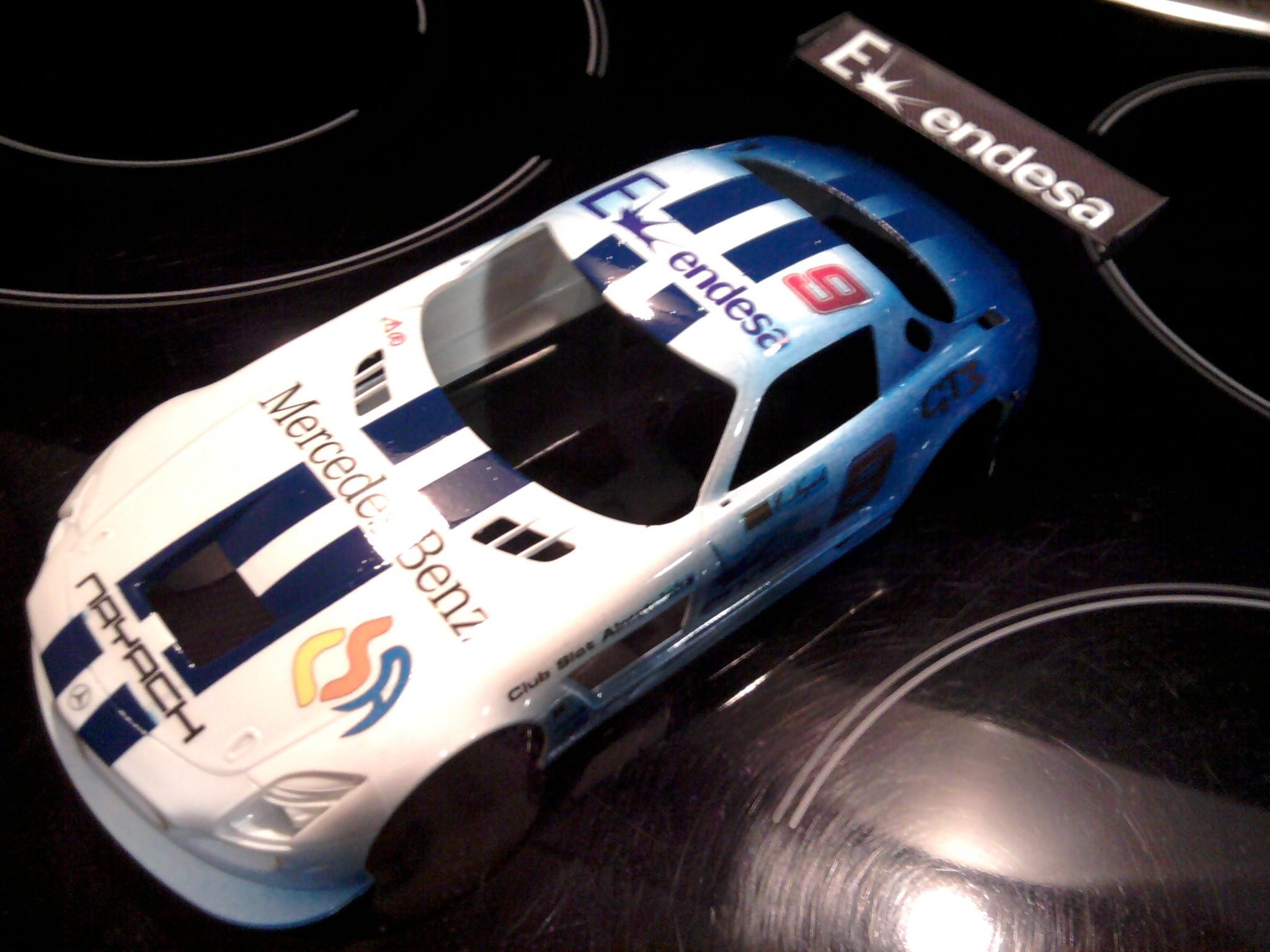 Mercedes SLS AMG GT3 1:24 encargo de D. Eduardo N. por SDH Diseños.