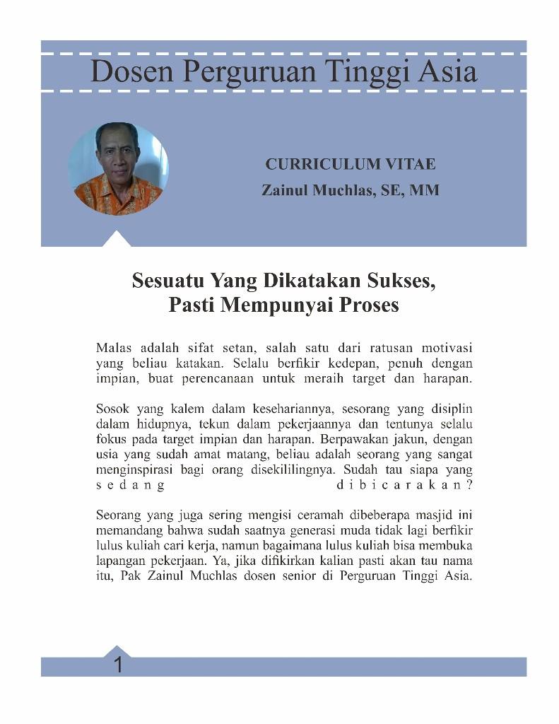 Dosen Perguruan Tinggi Asia Malang - cover