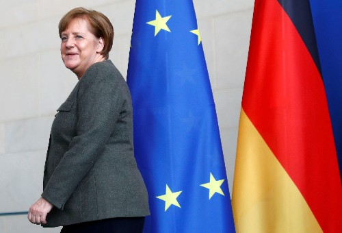 Merkel hopes euro zone inflation hits target so ECB can hike rates