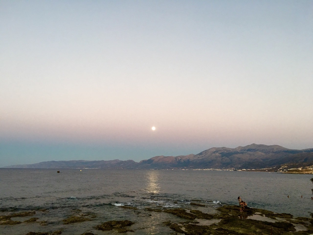 August full-moon in Crete.