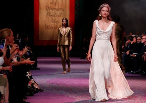 Dior's Grecian goddesses kick off Paris fashion extravaganza