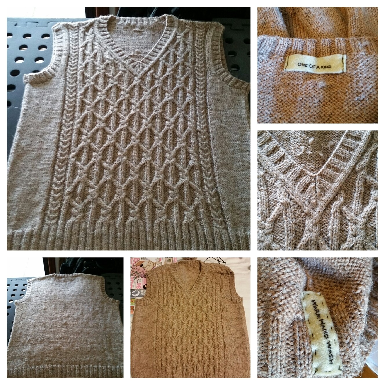Cabled vest -part two