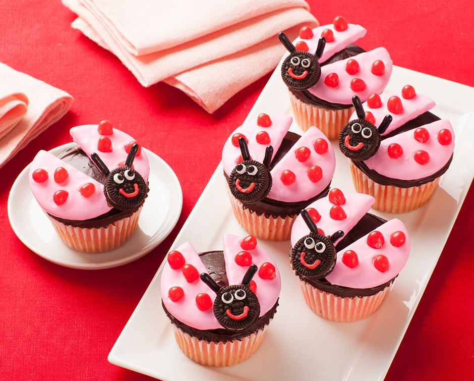 Chocolate and Jelly Beans Cupcakes