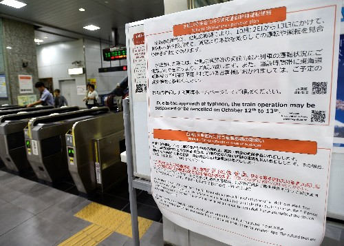 East Japan Railway may halt high-speed train lines as precaution against typhoon, company says
