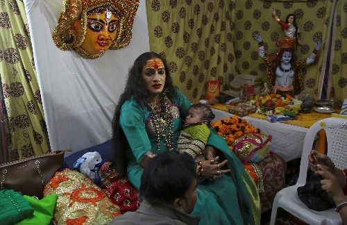 From pariah to demi-god: transgender leader a star at massive Indian festival