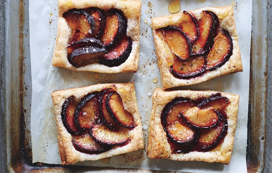 Plum Tarts with Honey and Black Pepper