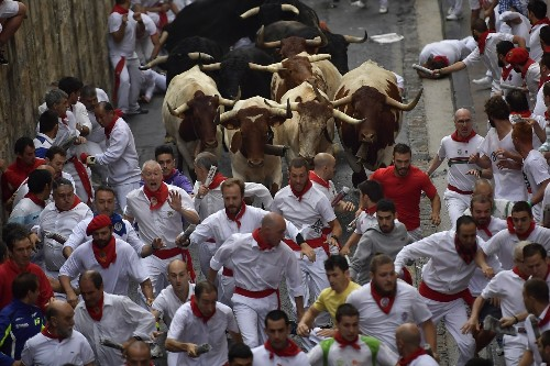 The Running of the Bulls in Pamplona: Pictures