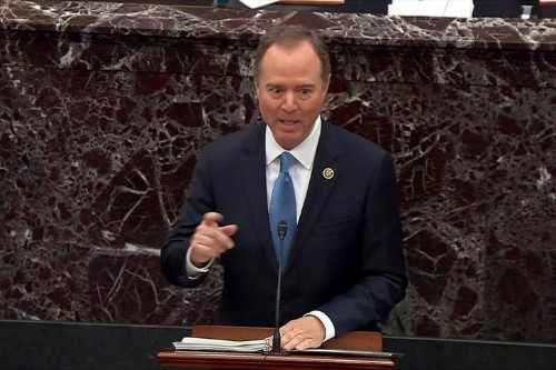 Head on a pike? Republican senators object after Schiff cites impeachment threat