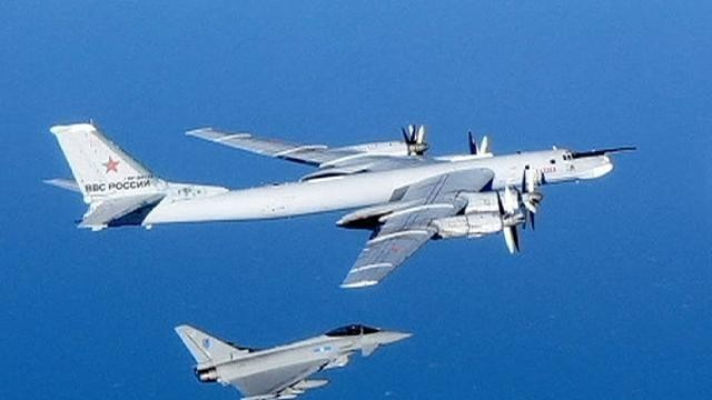 Fighter jets sent to escort Russian bombers away from UK airspace