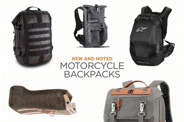 New and Noted: Motorcycle Backpacks