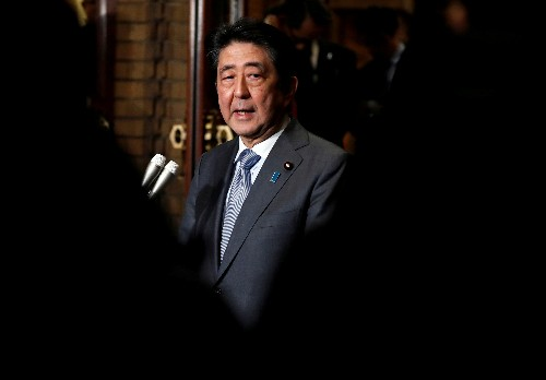Japan PM Abe says 'basically' not thinking of snap election if sales tax hike delayed: Kyodo