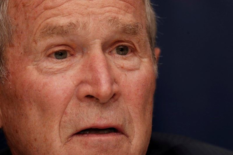 Former President Bush, contrasting Trump approach, says protesters should be heard