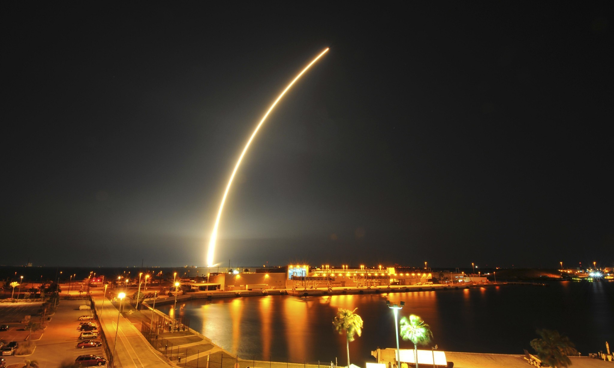 Elon Musk's SpaceX lands reusable rocket on barge for second time