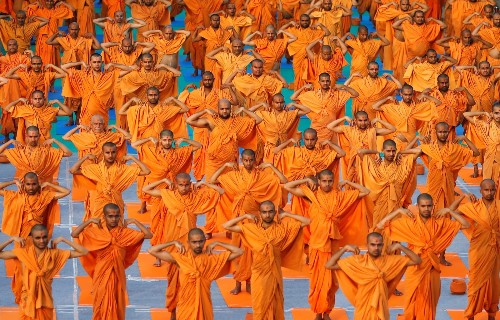 International Yoga Day in Pictures