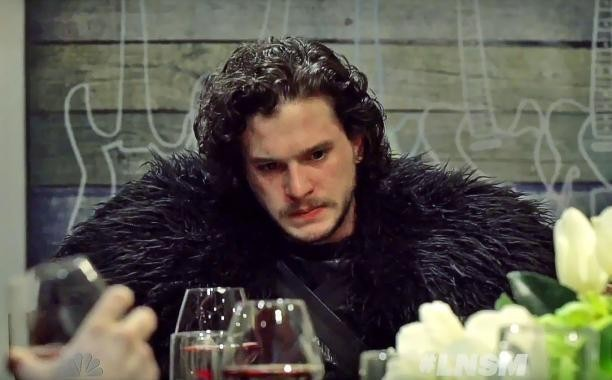 Jon Snow is one awkward dinner guest on 'Seth Meyers'