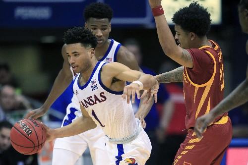 Dotson's 29 points lead No. 3 Kansas past Iowa State, 91-71