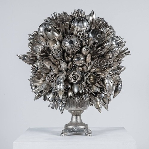 Artist Turns Discarded Silverware and Scraps into Magnificent Sculptures