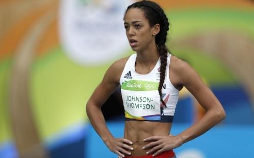 Jessica Ennis-Hill: Nafissatou Thiam takes the lead in the heptathlon with Katarina Johnson-Thompson third