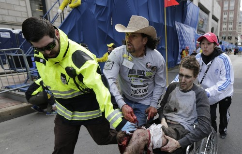 Boston Marathon Bombing in Pictures
