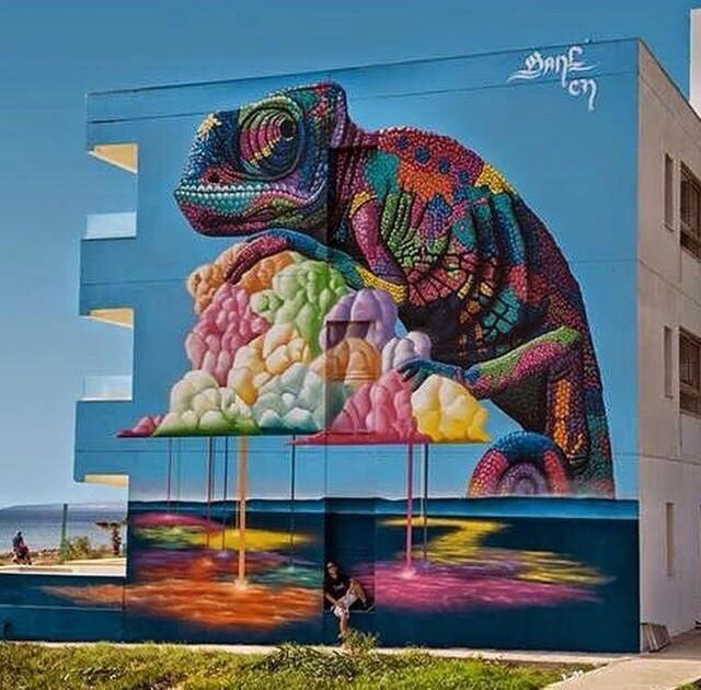 Streetart by Bane cn in Cyprus