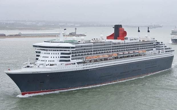 Rescuers search for crew member who fell from Queen Mary 2