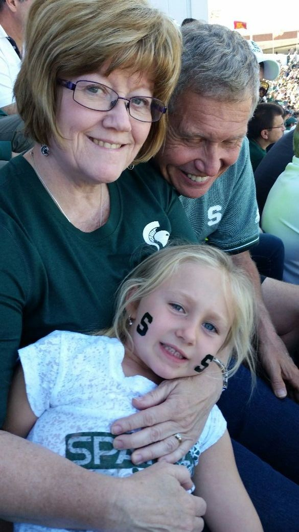 Wonderful day with the princess at Michigan State game.