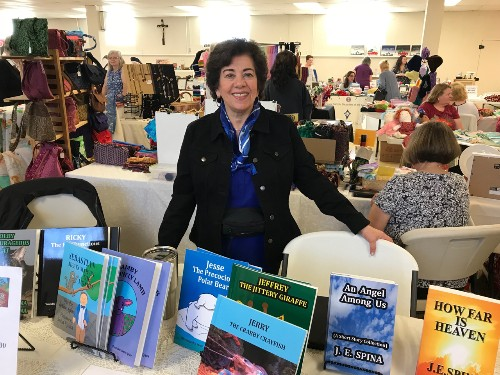 Book signing in Methuen, MA at St. Lucy Church Sodality Craft Fair today oct 21, 2017 9-3