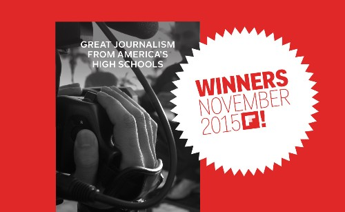 Great Journalism from America's High Schools: First Finalists Are In!