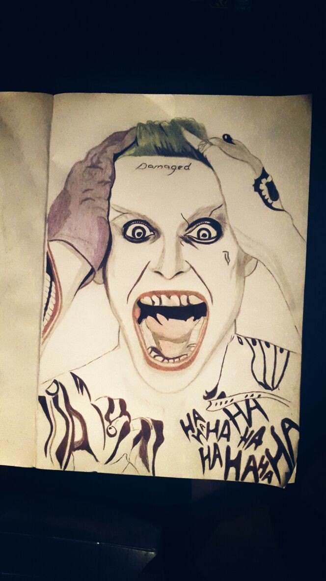 The suicide squad movie is highly anticipated and this Character (Joker) is the most loved character.... This is my art work of the character☺