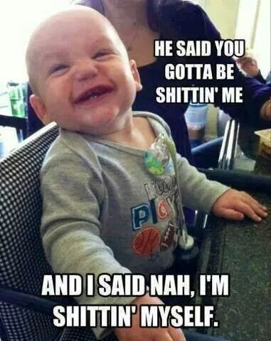 Baby's are funny
