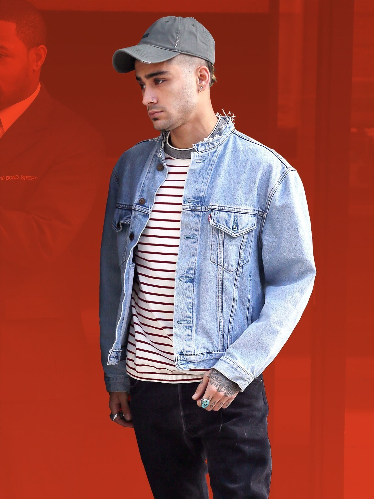 Zayn Malik's Denim Jacket is a Style Hack for Slimmer Dudes