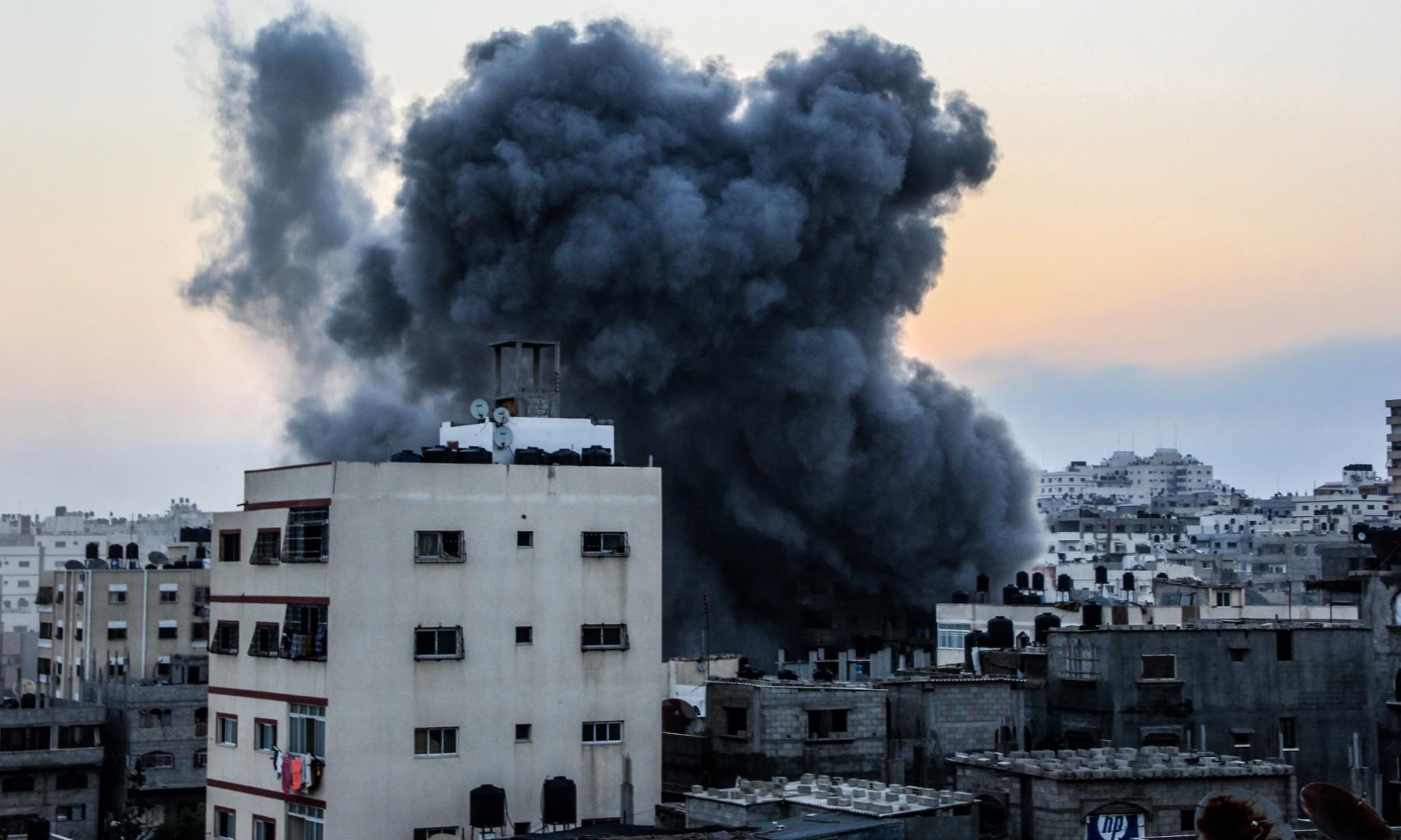 Gaza highrises flattened by Israel