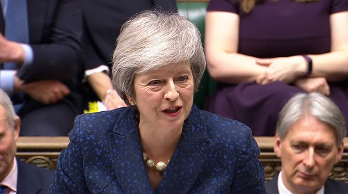British PM May tells her lawmakers she will not lead them into next election